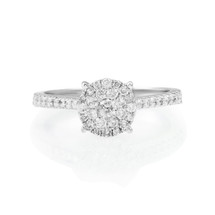 10K White Gold .50ct Engagement Ring
