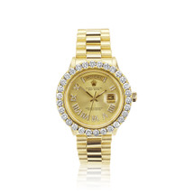 Rolex Day-Date 18k Yellow Gold 6.5ct Diamond Watch