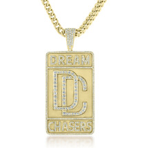 Custom Yellow Gold 3ct Diamond Dream Chaser Pendant