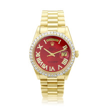 Rolex Day-Date 18k Yellow Gold 3.75ct Diamond Watch