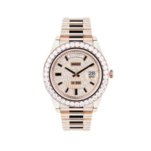 Rolex Day-Date II 18k Rose Gold 7.5ct Diamond Watch