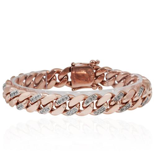 Gold 5 5ct Diamond Cuban Link Bracelet Image 1