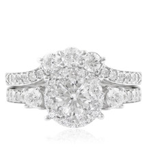 14K White Gold 2ct Engagement Ring