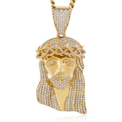 14k yellow gold 9ct extra large jesus head pendant shyne jewelers jesus head pendant image 1 aloadofball Images