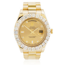 Rolex Day-Date II 18k Yellow Gold President 9.45ct Diamond Automatic Men's Watch
