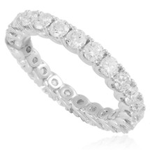 18k White Gold 2.01ct Diamond Eternity Band