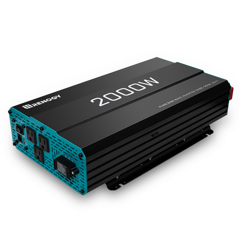 Renogy 2000W 12V Pure Sine Wave Inverter with Power Saving Mode