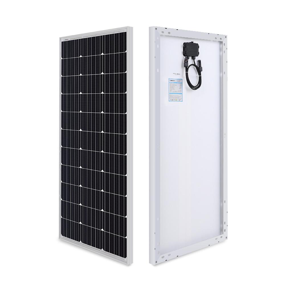Renogy panneau solaire 100 Watt 12 Volt monocristallin (Design Compact)