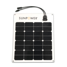 SunPower® Flexible 50 Watt Monocrystalline Solar Panel