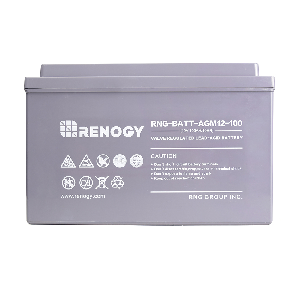 Renogy Deep Cycle Agm Battery 12 Volt 100ah Solar Look At A Typical 24 System With Engine Connection Rng 12v