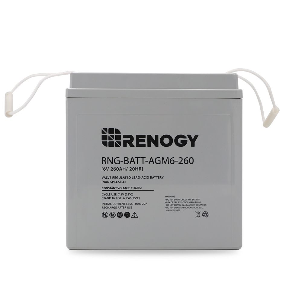 Renogy Deep Cycle Agm Battery 6 Volt 260ah Solar Inverter Circuit Diagram Package Includes