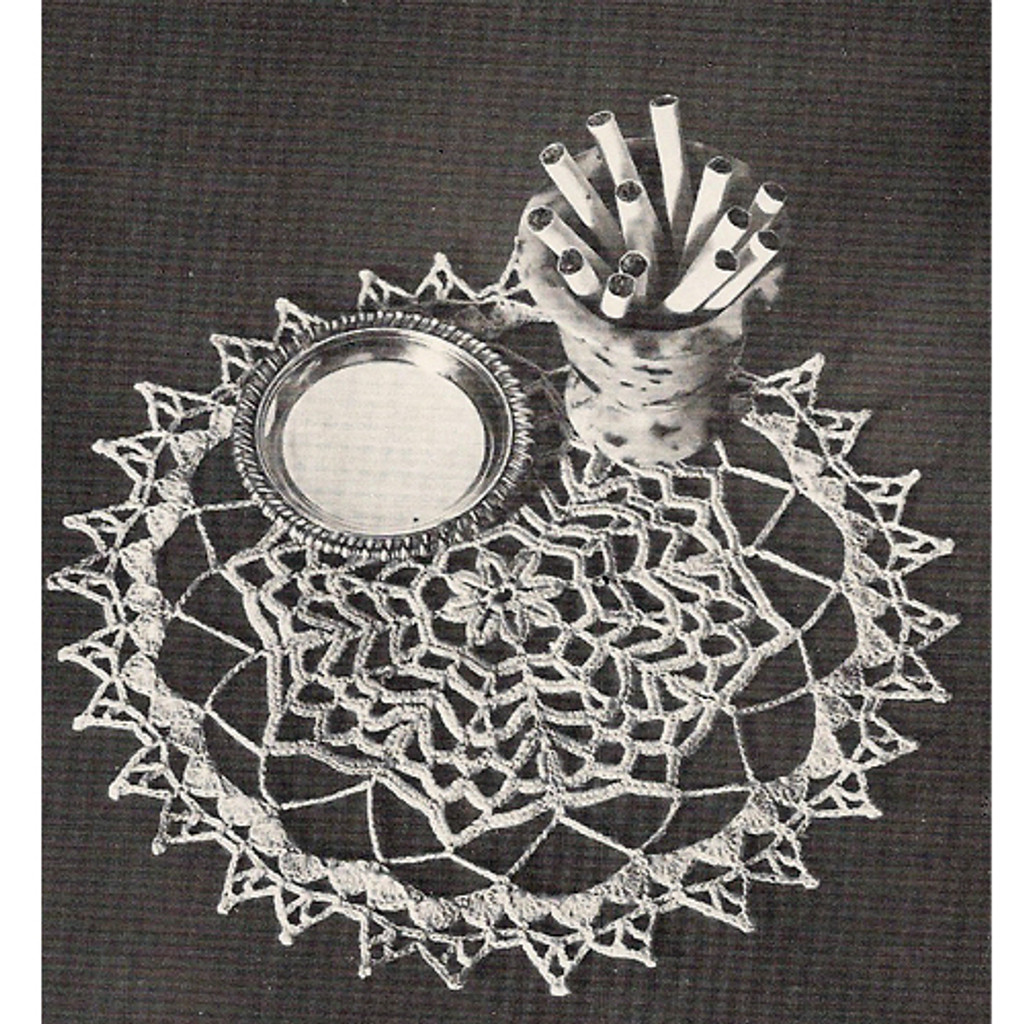 Vintage knit crochet shop talk doilies pattern book for Thread pool design pattern