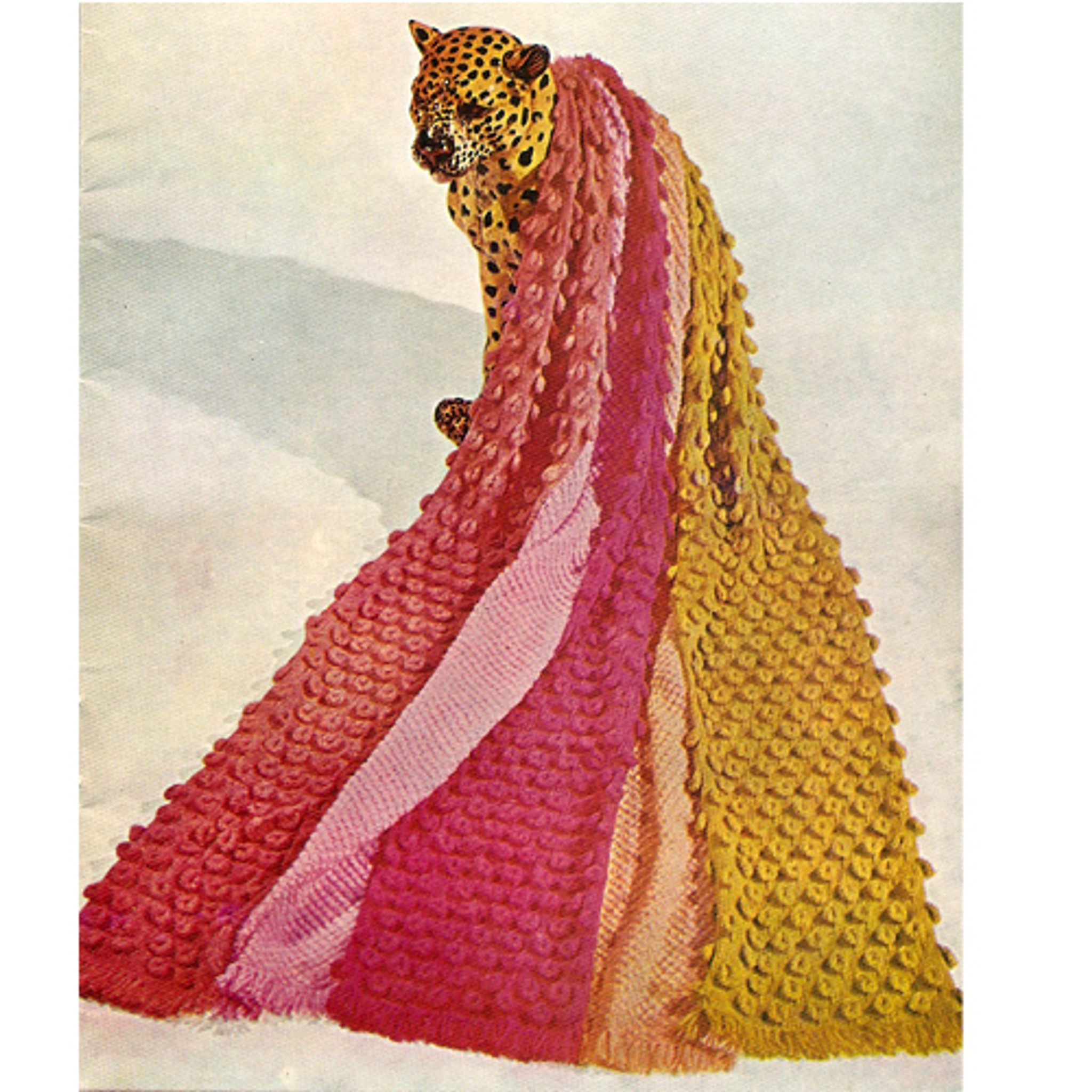 Panel Crochet Afghan Pattern in Popcorn Stitch