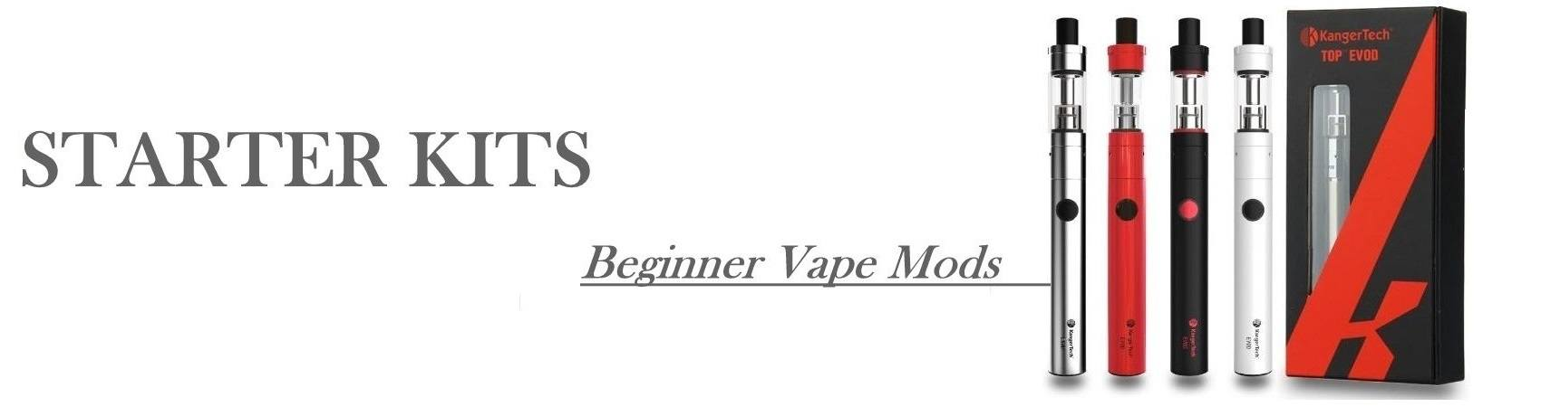 Begginner Ecig Starter Kits and Vaping Mods