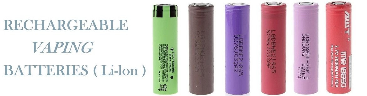 Rechargeable Ecig 18650 Vaping Batteries