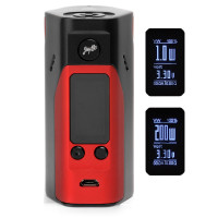 Jaybo Reuleaux RX200s Box Mod - BLACK AND RED