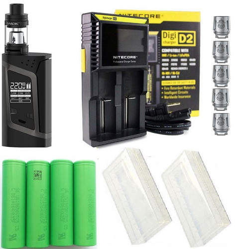 SMOK Alien Starter Kit With Charger, Extra Replacement Coils, 4x VTC5 Batteries and Battery Cases