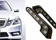 Benz Style White 6 LED L Shaped Daytime Running Lights DRL