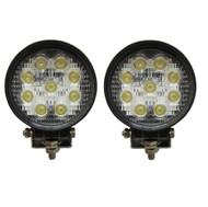 27W Equinox Round LED Work Light Lamp Off Road High Power 30 Degree Spot Light