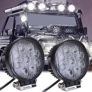 27W Equinox Round LED Work Light Lamp Off Road High Power 60 Degree Flood Light