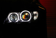 Equinox LED Angel Eye Lights for BMW E39 E60 E53 E63 E65 (White, Error Free)
