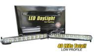 Pair of Equinox 40 LED DRL White Fog Lights Car/Truck/Bumper Daytime Running Lights