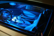 Car Interior + License Plate LED Replacement Package Kit (Blue)
