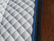 Close up of a Wilker's Dressage Show Saddle Pad