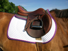 Wilker's Memory Foam Half Pad and Saddle Pad Matching Set