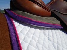 Close up of a Wilker's Hunter/Jumper Memory Foam Half Pad
