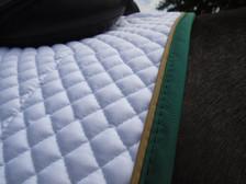 Close up of a Wilker's Hunter/Jumper Schooling Show Saddle Pad