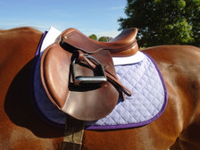 Lilac with Purple Trim Horse Baby Pad Front View