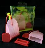 Reusable Loose Tea Bag--Rose Red