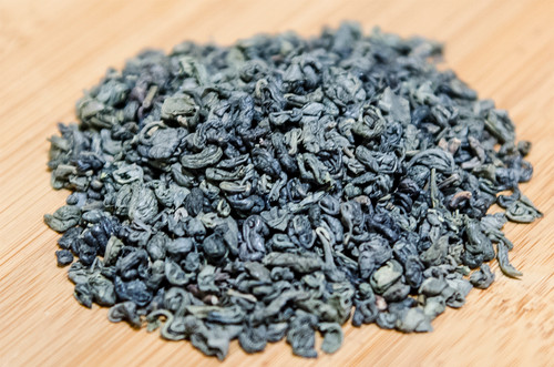 USDA certified organic small pellets of full bodied rolled green tea with bold, nutty and distinctive smoky flavor.