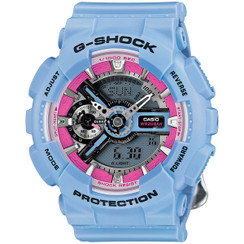 Casio G-SHOCK Blue/Pink GMAS110F-2A