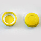 34mm flagon Cap Yellow Wadded pack of 10