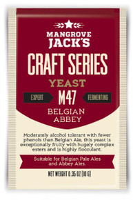 Moderately alcohol tolerant with fewer phenols than Belgian Ale, this yeast is exceptionally fruity with hugely complex esters and is highly flocculant.  Suitable for Belgian Pale Ales and Abbey Ale