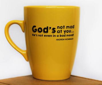 Yellow Mug - God`s Not Mad