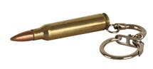 556 bullet Brass Keyring
