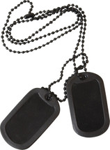 Army Dog Tags in black