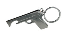 pistol bottle opener key ring