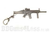 Scar rifle Keyring in solid metal