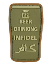 Tactical Patch Beer Drinking Infidel Patch in Olive Green