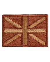 Tactical Patch Fabric Union Jack Patch in Desert