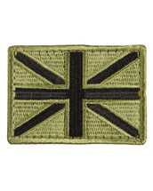 Tactical Patch Fabric Union Jack Patch in olive green
