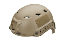 Fast Helmet with Rails inc Extra Internal Padding in tan