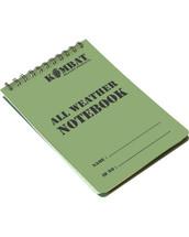 Kombat Waterproof Army Notepad Book