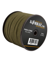 Kombat 100m x 3mm Para Cord in Olive Green