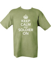 Kombat Keep Calm & Soldier On T shirt