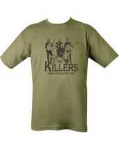 Kombat The Killers T Shirt in Green